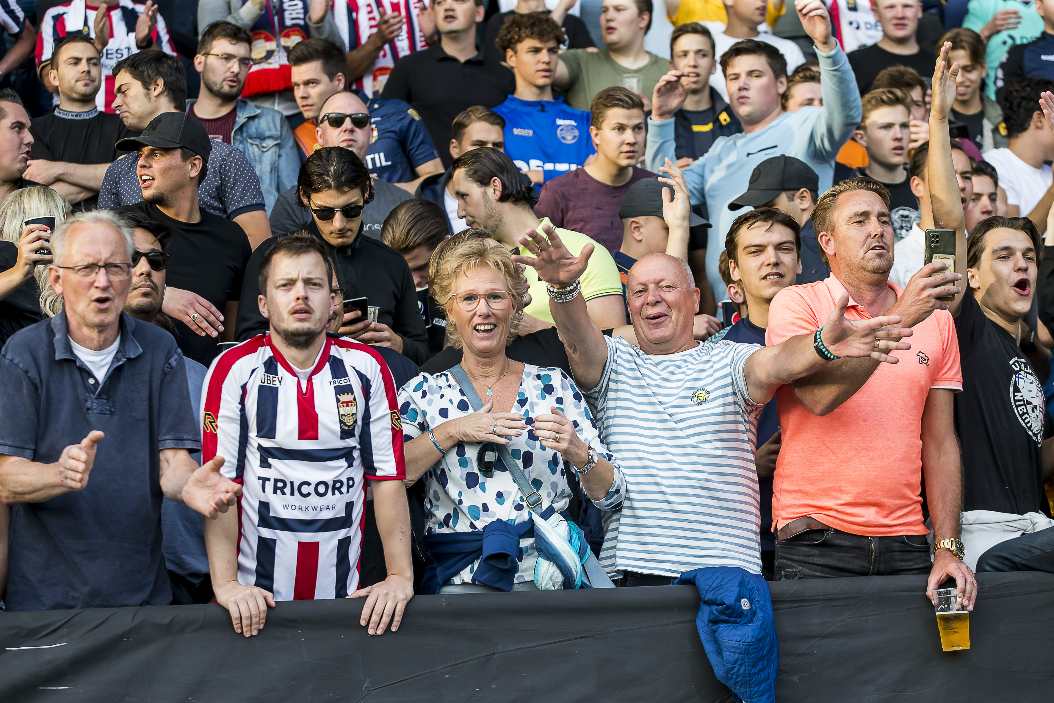 Fans WillemII-FC Groningen