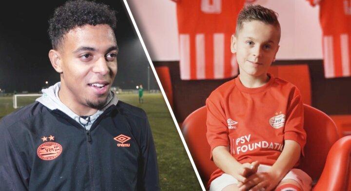 Giano (10) scoort met 1 been voor het PSV amputatieteam