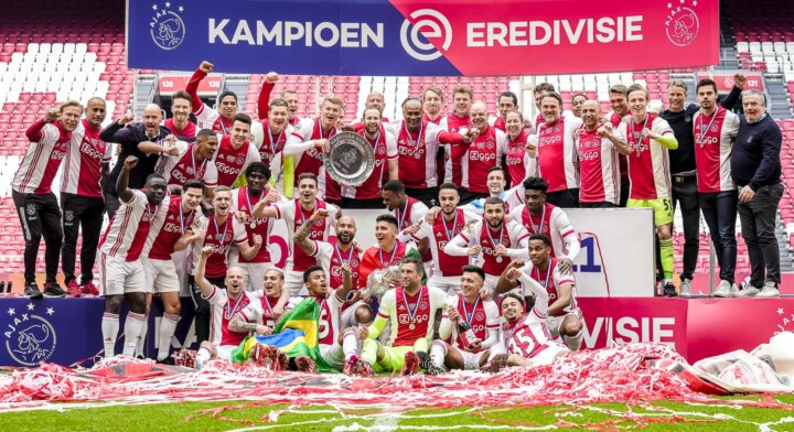 Ajax crowned Dutch champions after thumping win over Emmen