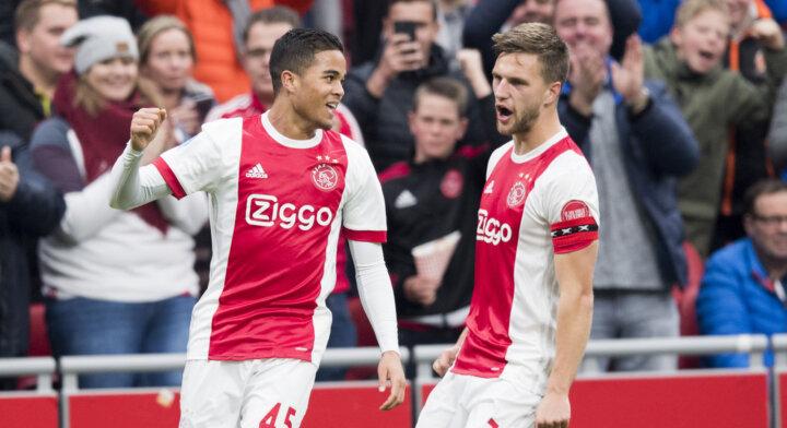 Justin Kluivert nets hat-trick as Ajax thrash Roda JC