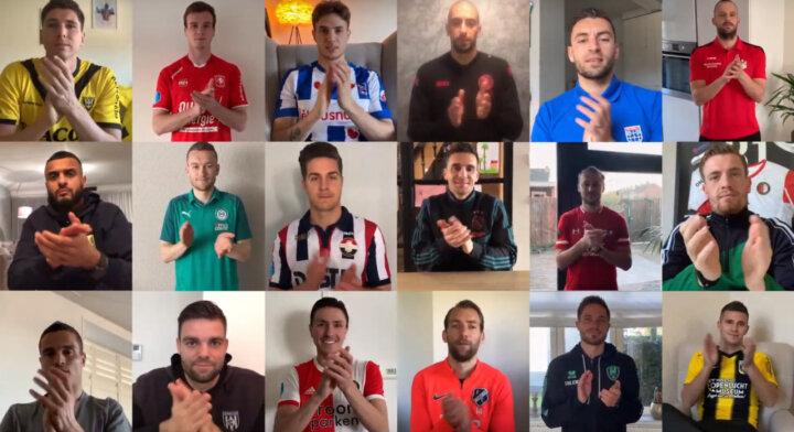 Videoboodschap 18 Eredivisie-aanvoerders:  Nu klappen wij voor jullie